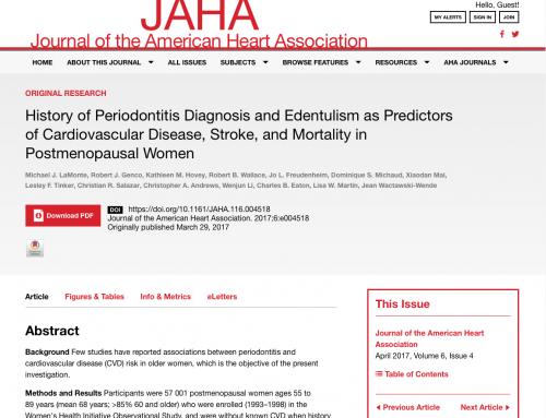 L'édentement et la maladie parodontale, facteurs de risque cardiovasculaire